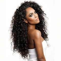 Natural Hairline Brazilian 250% Density Wig Pre-Plucked Natural Hair Line Deep Wave