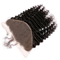 13x6 Lace Frontal With Natural Hairline Deep Wave Brazaline Remy Hair Lace Frontal