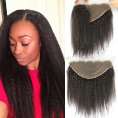 13x6 Lace Frontal With Natural Hairline Kinky Straight Brazilian Remy Hair Lace Frontal