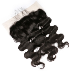 8A 13X6 Lace Frontal Closure Ear To EarLace Frontal Body Wave with Baby Hair Malaysian Unprocessed Human hair in stock