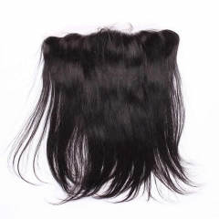 Good Hair Ear To Ear Lace Frontal Closure Silky Straight Malaysia Remy Hair Lace Frontal Closure 13x4 inchs Natural Color