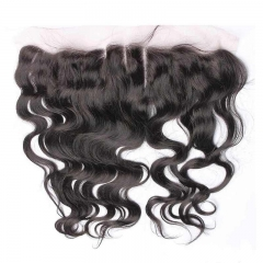 Frontal Piece Weave Body Wave Peruvian Remy Hair A Lace Frontal Closure 13x4inchs Natural Color