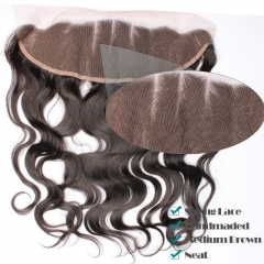 Good Lace Frontals,Body Wave Brazalian Remy Hair Ear To Ear Lace Frontal Closure 13x4 inchs Natural Color