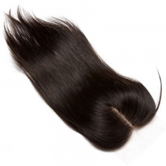 Silk Straight Brazilian Remy Hair Silk Base Closure For Sale Invisible Part Closure Natural Color 4x4inches