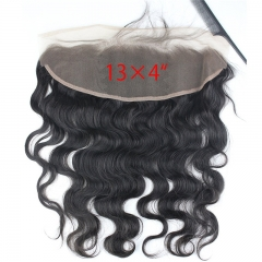 13x4 Full Lace Frontal Closure Body Wave Free Part Ear to Ear Brazilian Human Hair Extensions Frontal Lace Closure with Baby Hair Bleached Knot