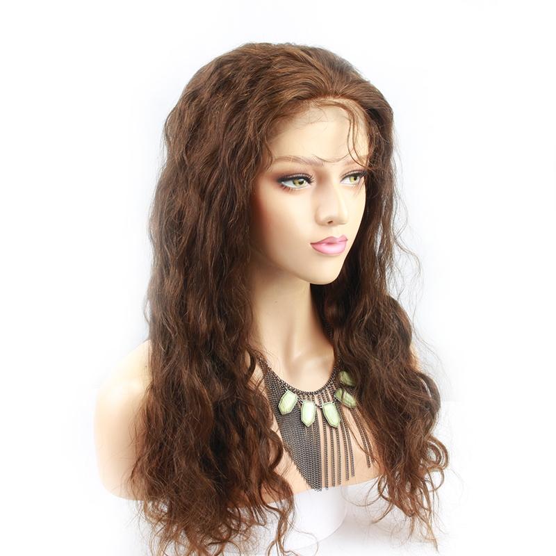 Full Lace Human Hair Wigs With Baby Hair Brazilian Virgin Hair Wigs